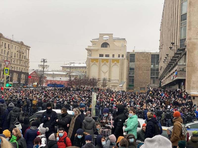 Москва протесты