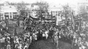 Демонстрация в поддержку вступления грузинской армии в Сочи в 1918 году