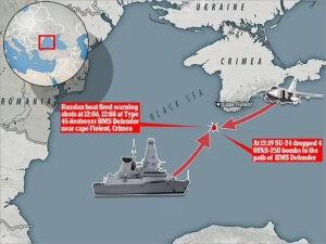 инцендент с кораблём, Британия корабль, Чёрное море,